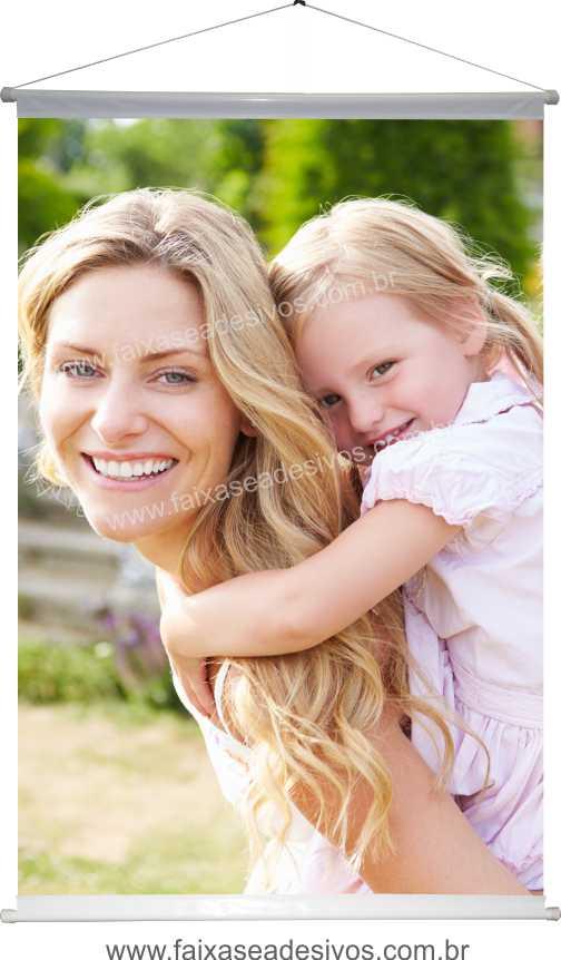 B626M - Dia das Mães - Banner com foto Alta Definição  - FAC Signs Impressão Digital