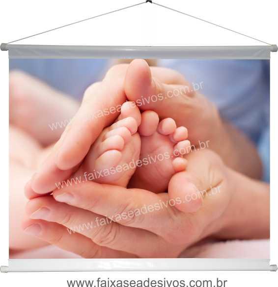 B627M - Dia das Mães - Banner com foto  - Fac Signs