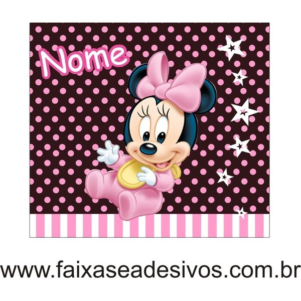 Minnie painel aniversário 1,00 x 0,80cm  - FAC Signs Impressão Digital