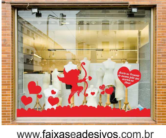 0A308N - Adesivo Dia dos Namorados - Barrado do Cupido  - Fac Signs