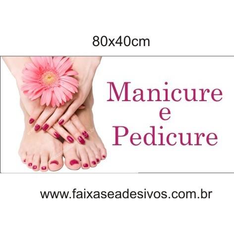Placa de Manicure e Pedicure - Escolha o tamanho  - Fac Signs