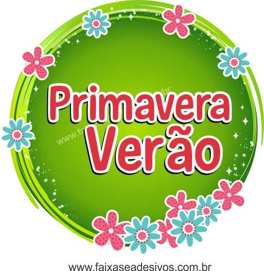 A501 - Adesivo Primavera-Verão - Guirlanda de Verde  - FAC Signs Impressão Digital