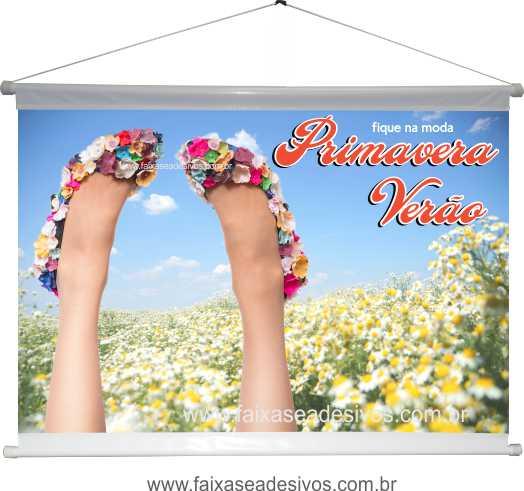 A502B - Banner Primavera-verão - sapatos floridos  - Fac Signs