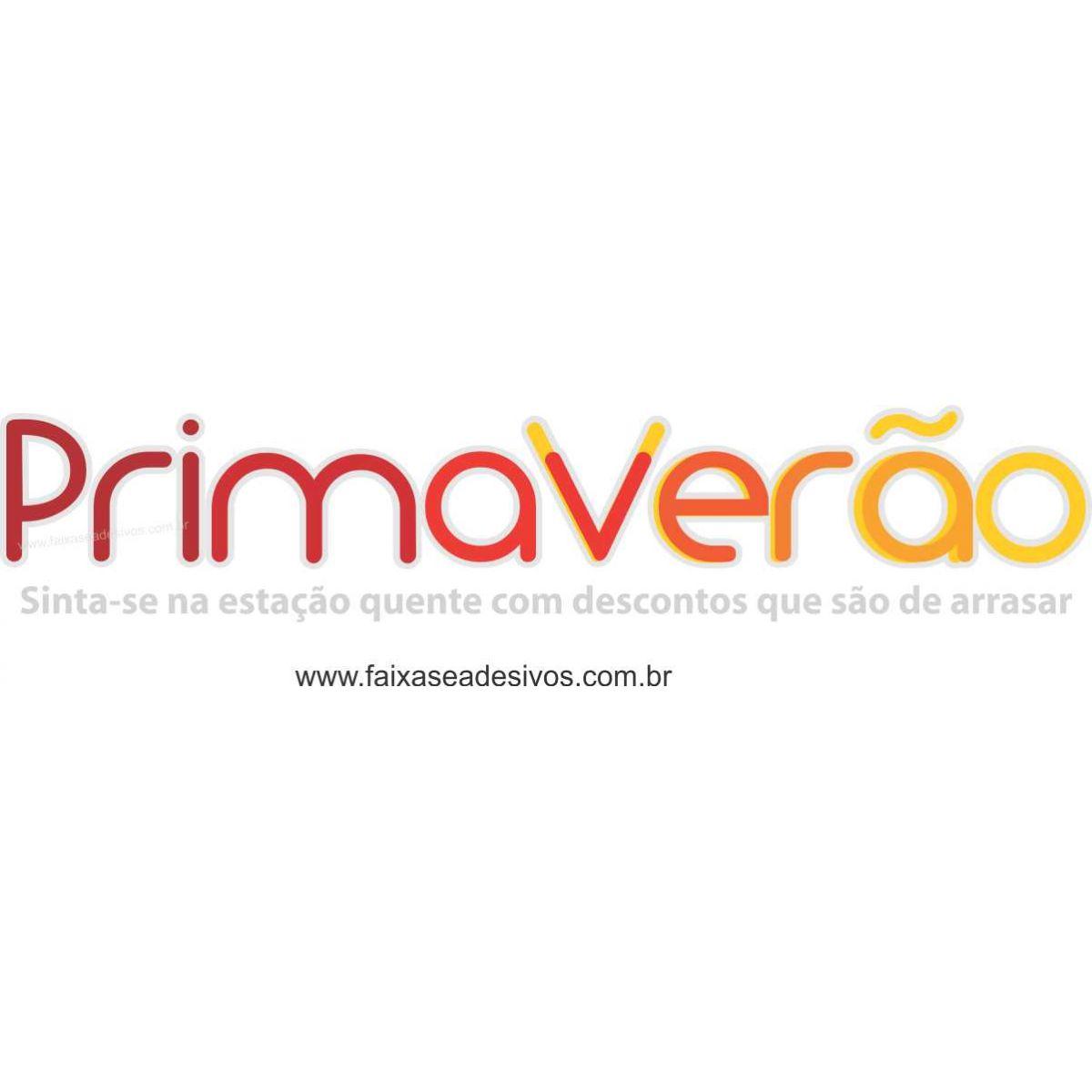 A507 - Adesivo Primavera-Verão - Primaverão  - Fac Signs