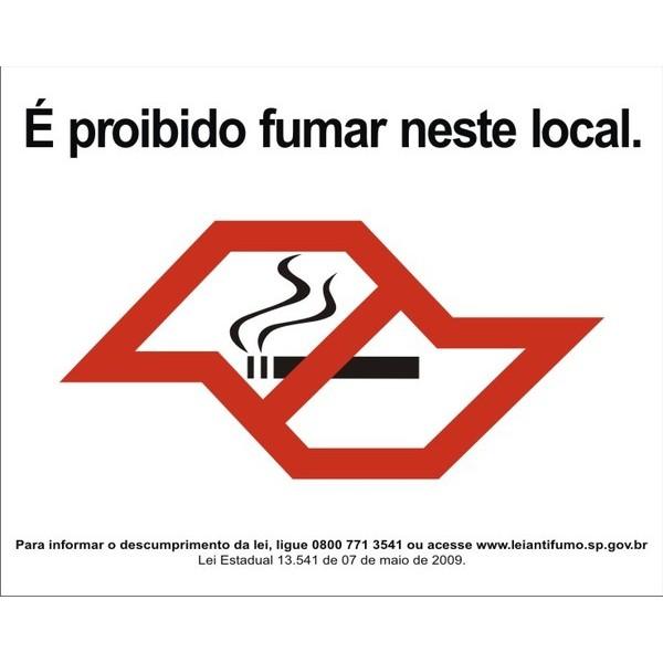 Lei Anti Fumo 20 x 25cm - Adesivo ou Placa!  - Fac Signs