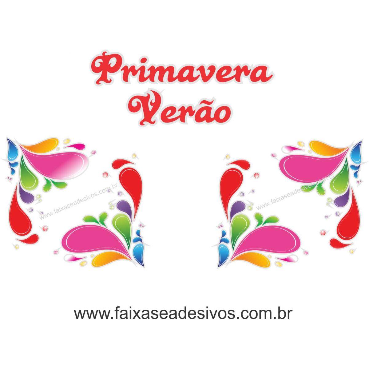 A522 - Adesivo Primavera-Verão - Cantoneiras Alegre  - Fac Signs