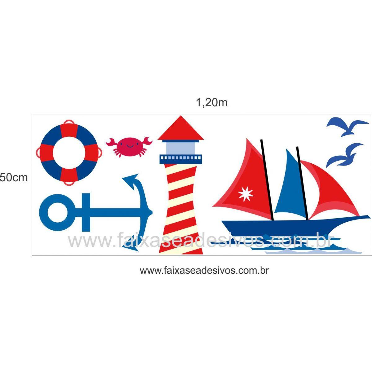 A705 - Dia das Crianças - Adesivo Náutico Infantil cartela  - Fac Signs