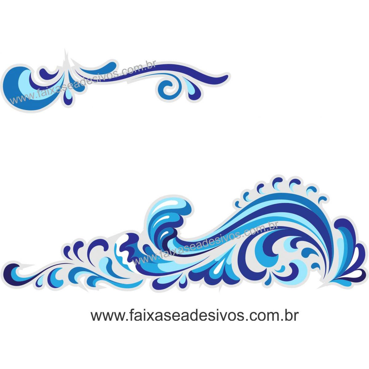 A711 - Dia das Crianças - Adesivo Náutico barrado água do mar  - FAC Signs Impressão Digital