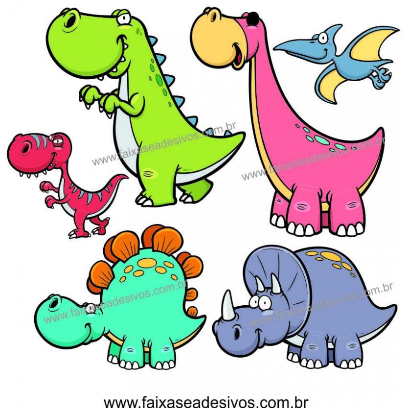 A717 - Dia das Crianças - Adesivo Cartela de Dinossauros  - Fac Signs