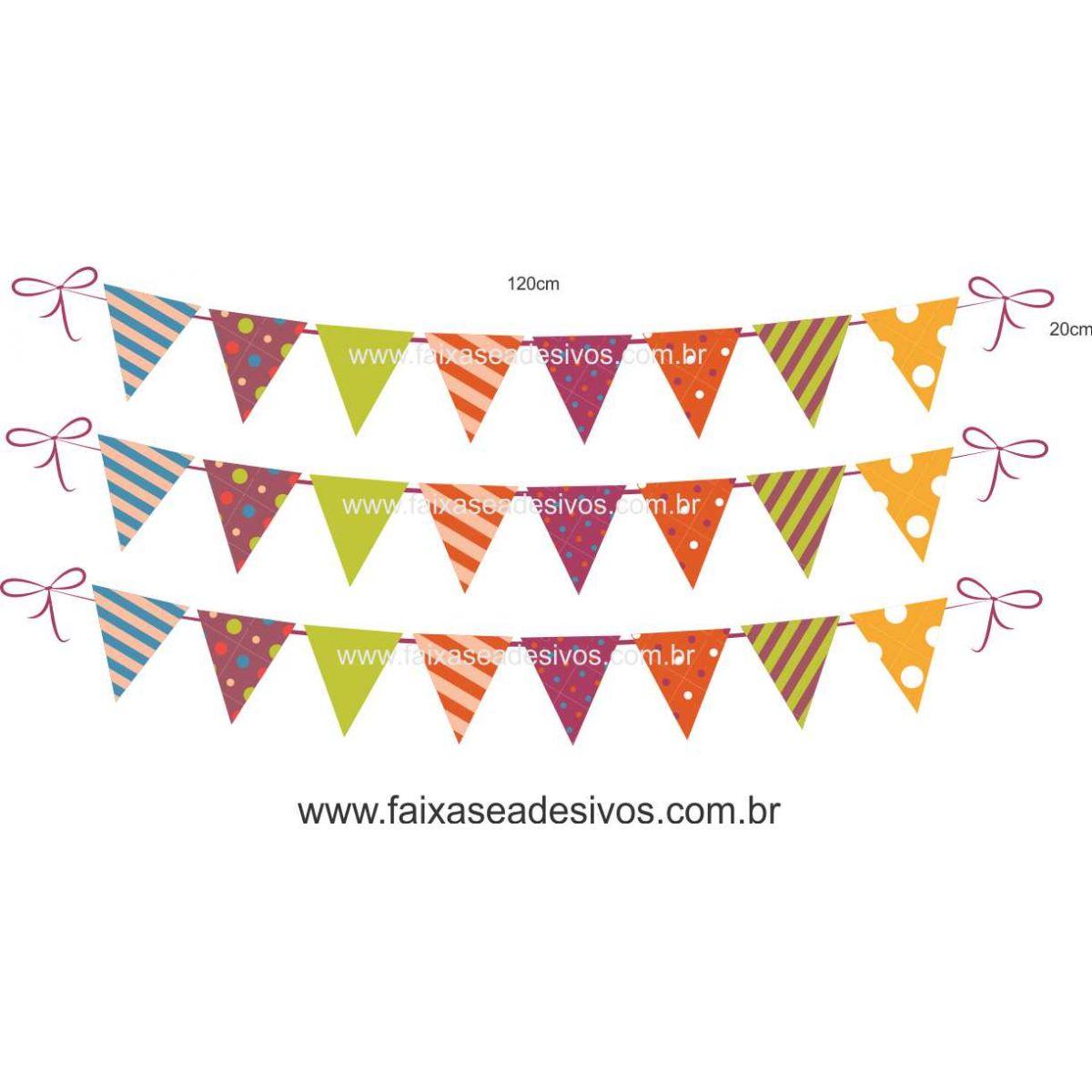 A723 - Dia das Crianças - Cartela de bandeirinhas  - Fac Signs