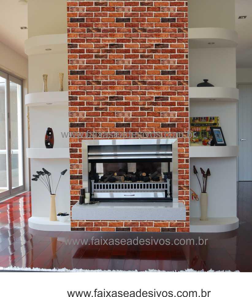 001 - Adesivo Decorativo de parede Tijolinho - larg 58cm   - Fac Signs