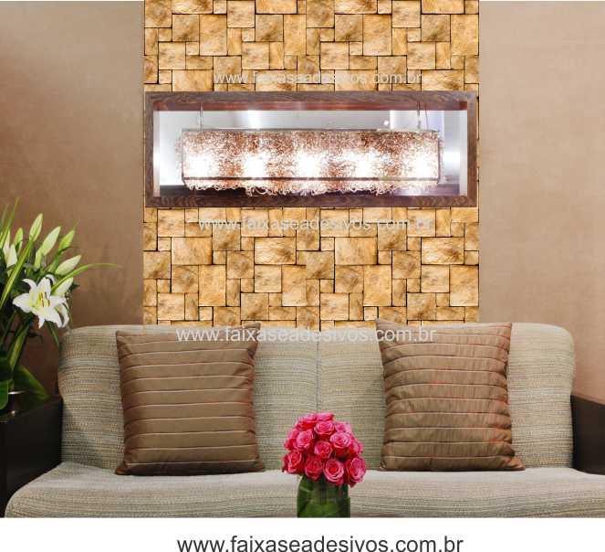 003 - Adesivo Decorativo de parede Pedra - 42cm larg rolo com 3 metros  - Fac Signs