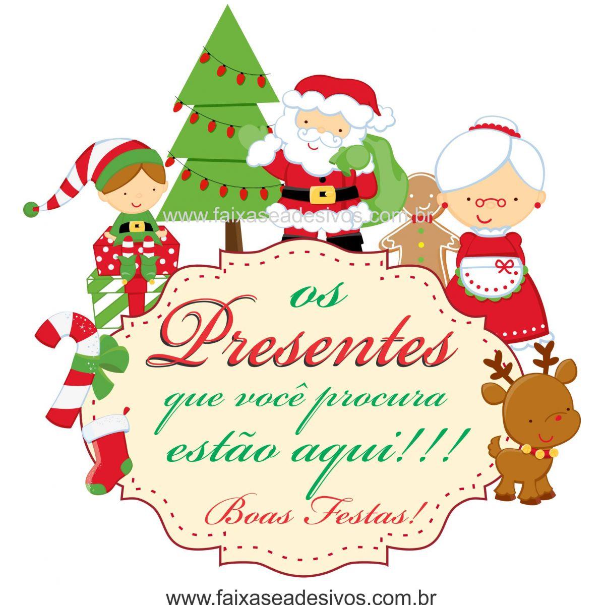 1202 - Adesivo de Natal família Natalina (P-M-G)  - Fac Signs