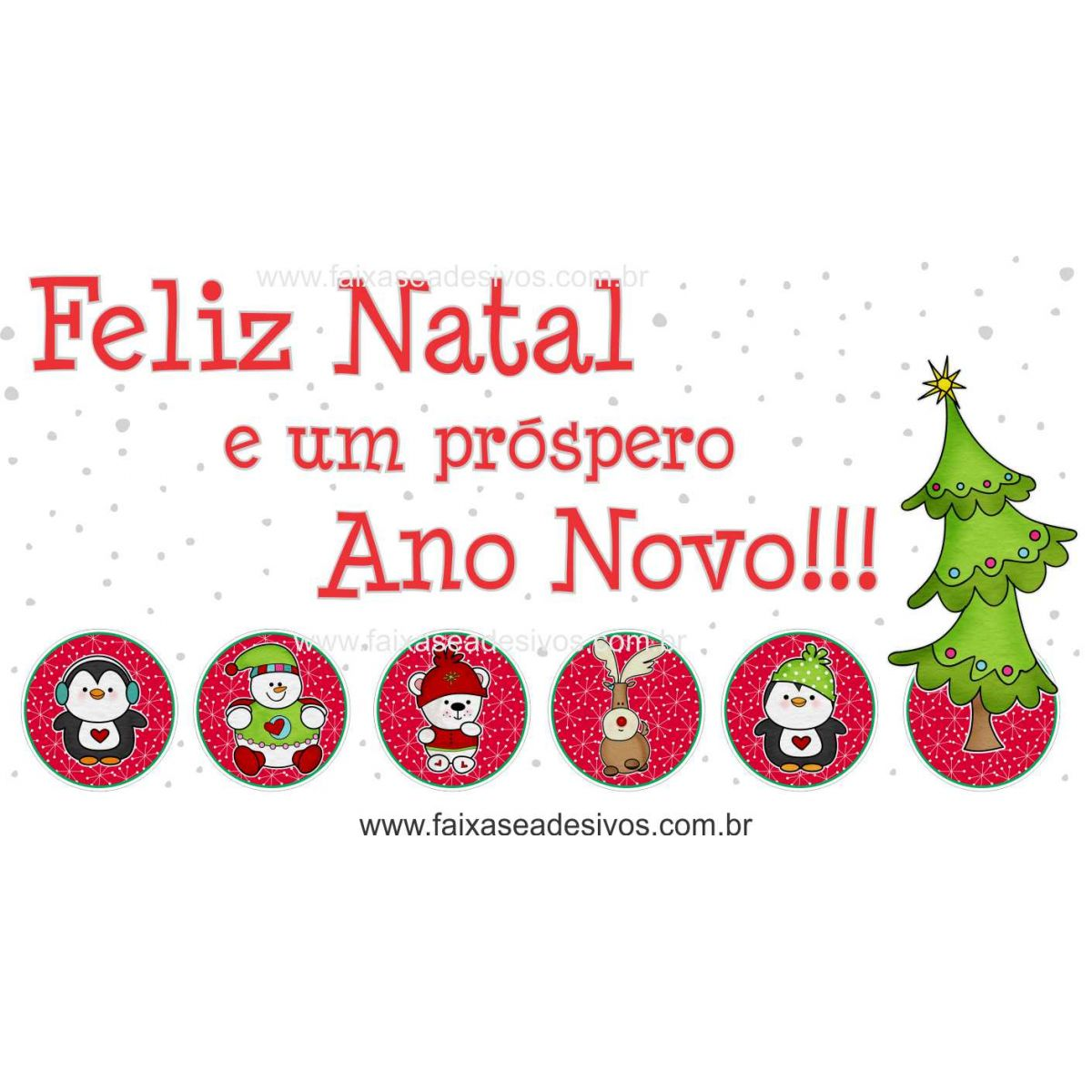 1203 - Adesivo divertidos de Natal   - Fac Signs
