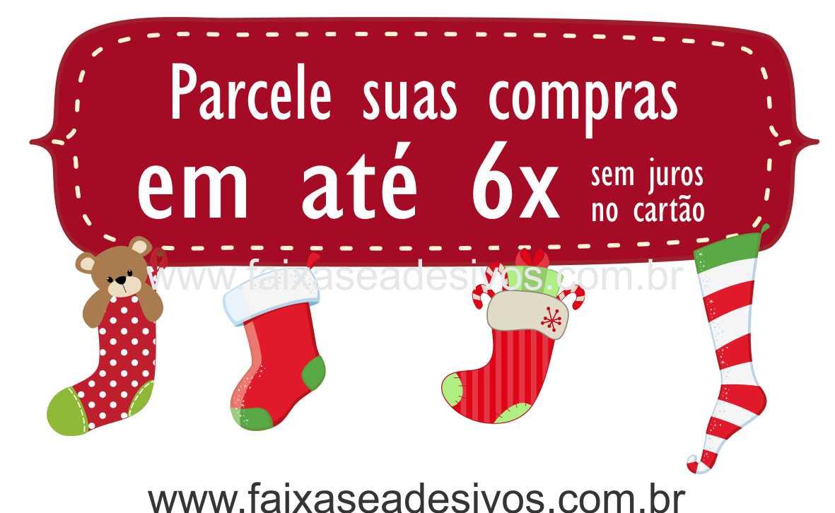 1204 - Adesivo meias da sorte de Natal  - Fac Signs