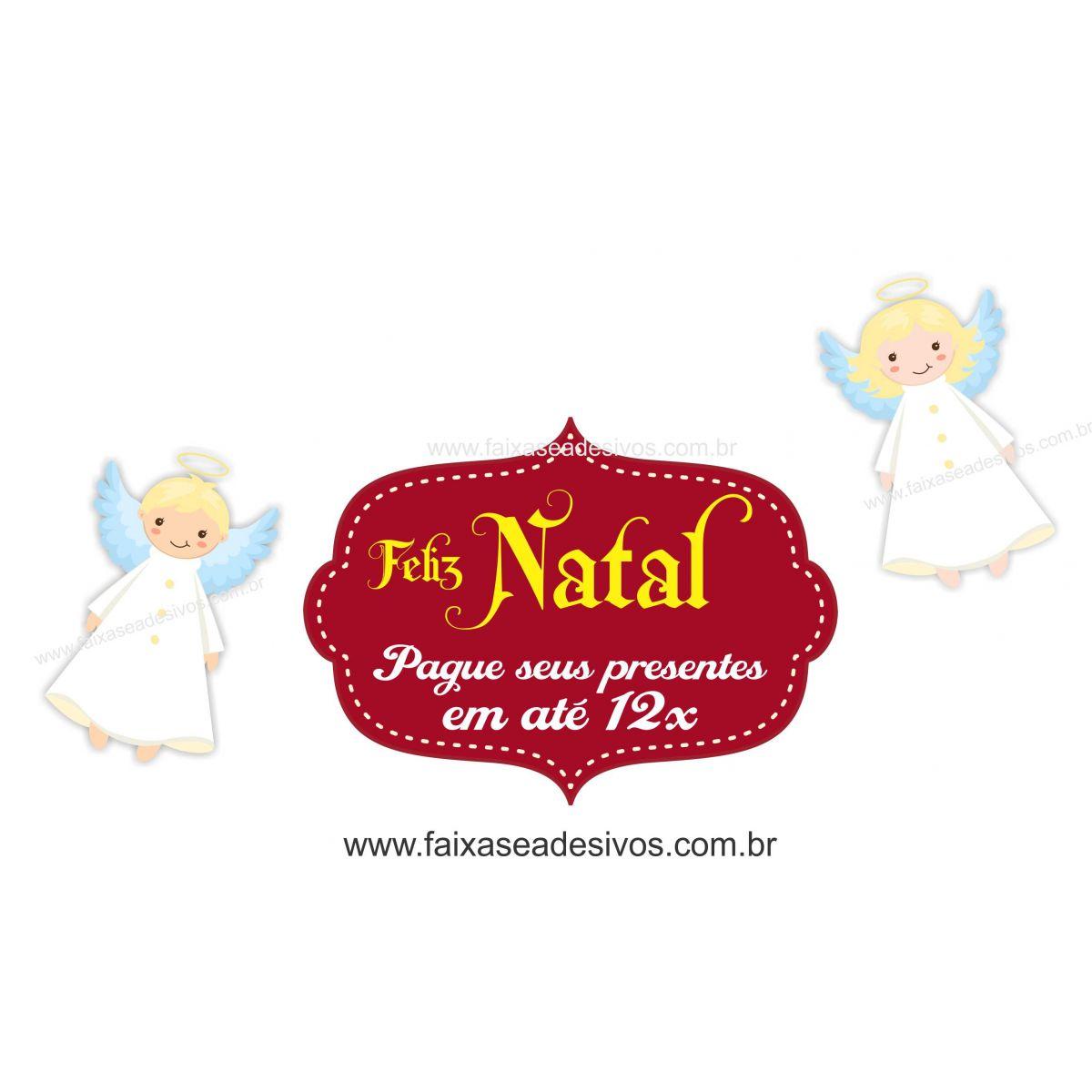 1205 - Adesivo Anjos de Natal  - Fac Signs