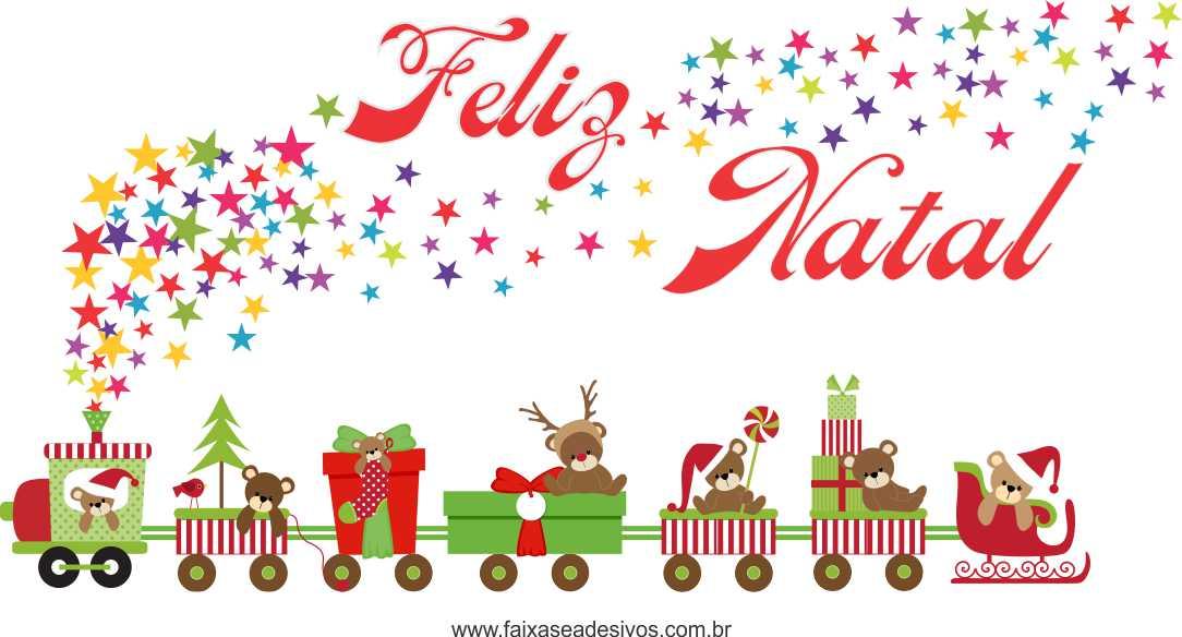 1212 - Adesivo Trenzinho de Natal  - FAC Signs Impressão Digital
