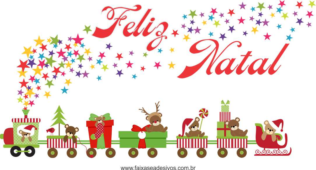 1212 - Adesivo Trenzinho de Natal  - Fac Signs