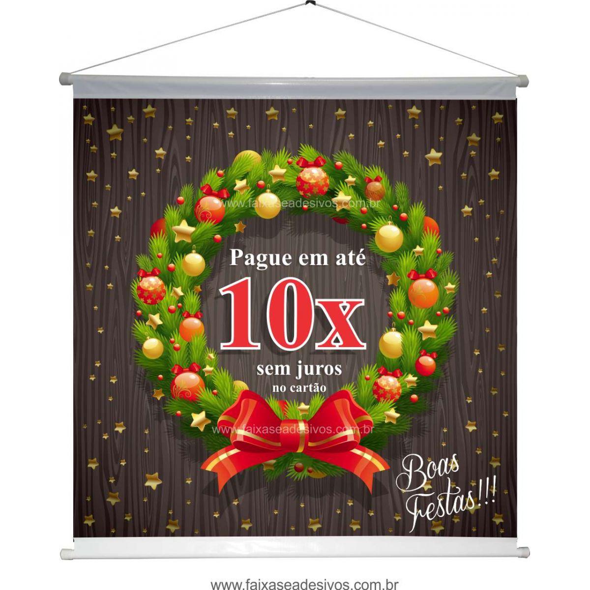 B630N - Banner para o Natal - 90x90cm - Pode trocar o texto ou colocar Logo  - Fac Signs