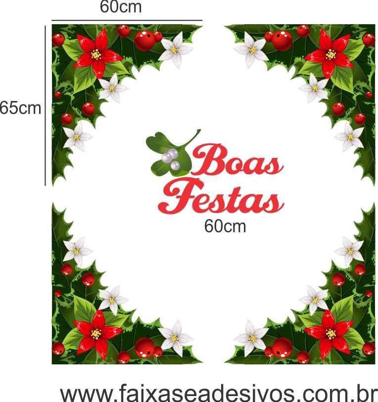 1221 - Adesivo Cantoneira de Natal  - Fac Signs