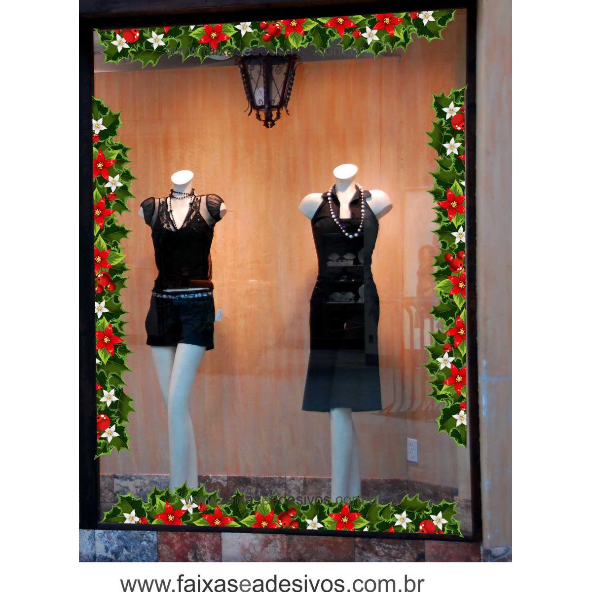 1222 - Adesivo Ramo Floral de Natal  - Fac Signs