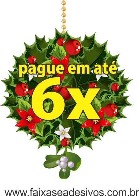 1223 - Adesivo Ramo Central de Floral de Natal  - FAC Signs Impressão Digital