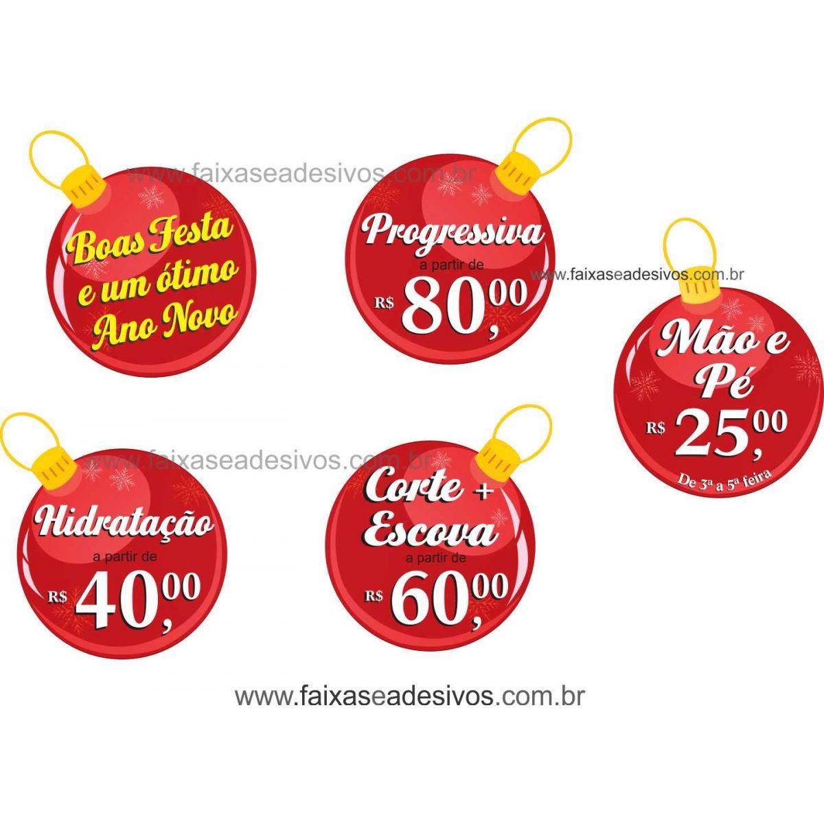 1225 - Adesivos Bolas de Natal promocional  - Fac Signs