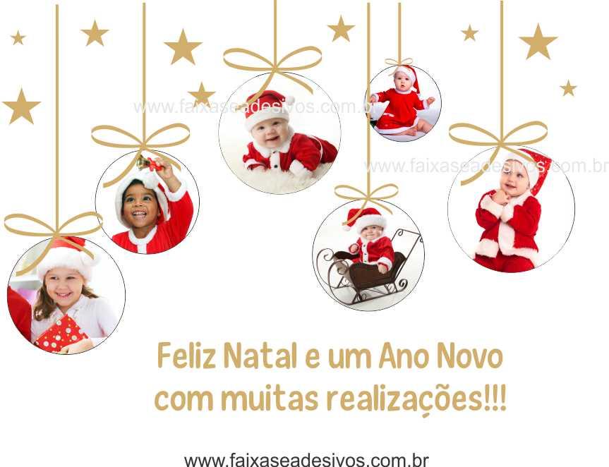 1230 - Adesivo de Natal Criança Feliz 120x90cm  - Fac Signs