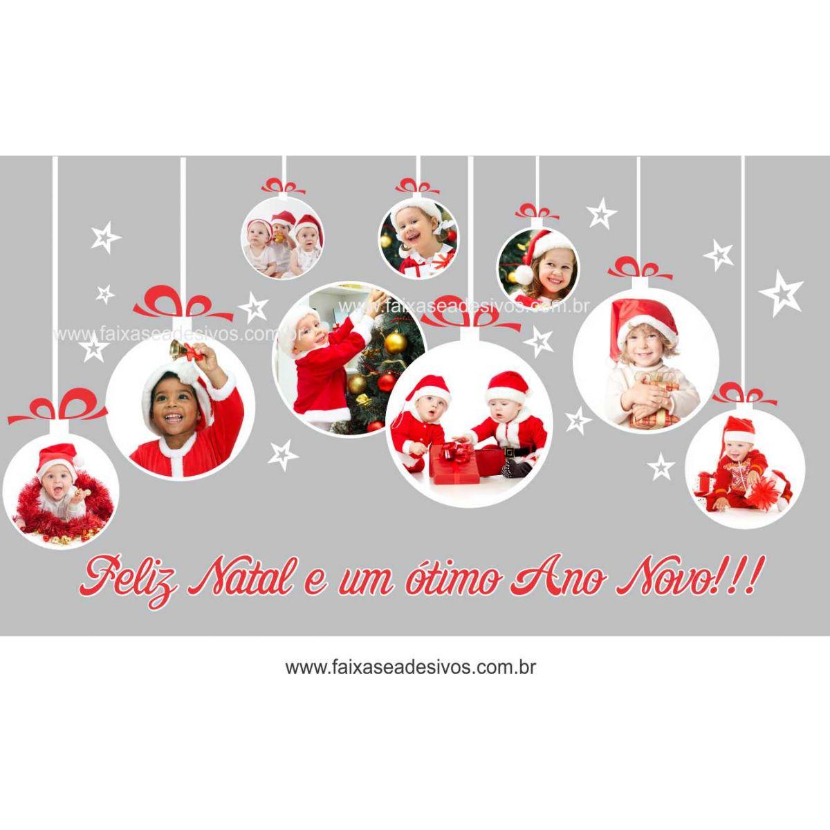 1231 - Adesivo de Natal Criança Feliz 2 - 85x150cm  - Fac Signs