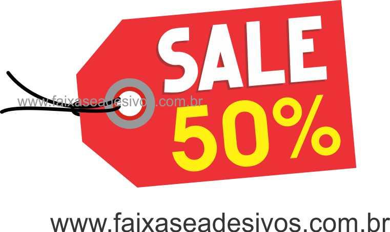 A493 - Tag - Adesivo de vitrine - Sale  - FAC Signs Impressão Digital