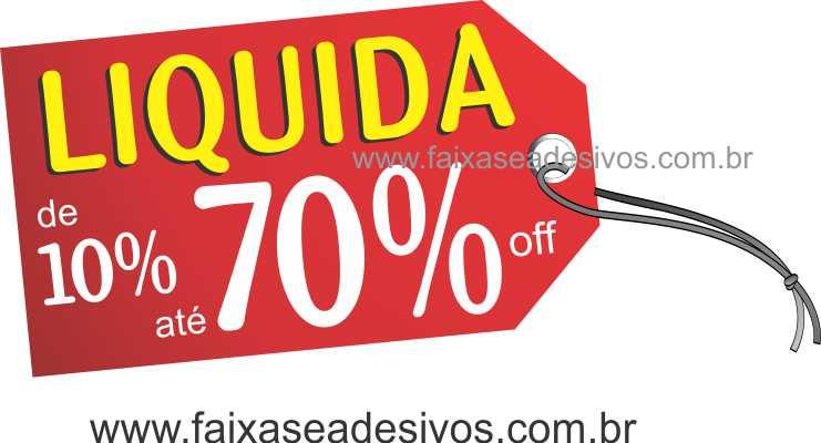 A495 - Tag - Adesivo de vitrine - Liquida  - Fac Signs