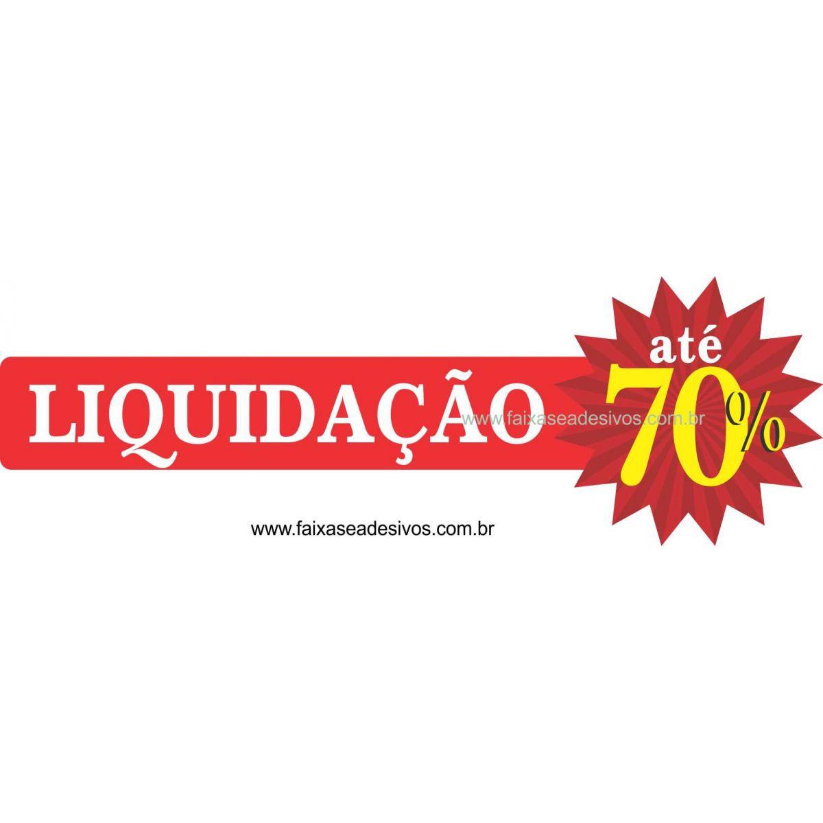 A491 -Liquidação - Adesivo de vitrine - 70off  - Fac Signs