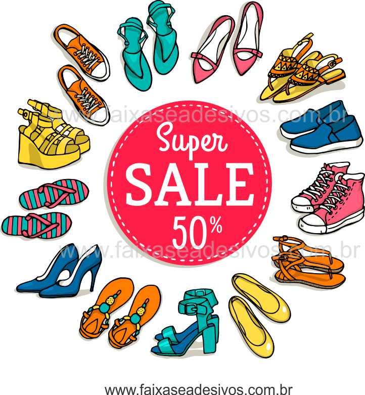 A484 - Adesivo Sapatos Sale - Escolha o tamanho  - Fac Signs