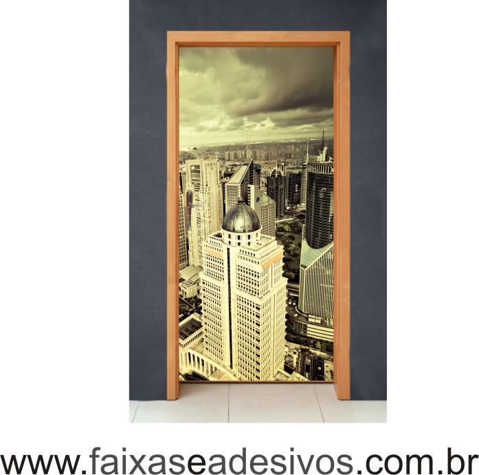 Qualquer Tema - Decorativo para Porta 210 x 0,70m  - FAC Signs Impressão Digital