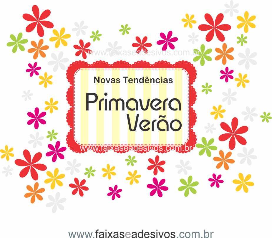 A496 - Adesivo Primavera-Verão Florido  - Fac Signs