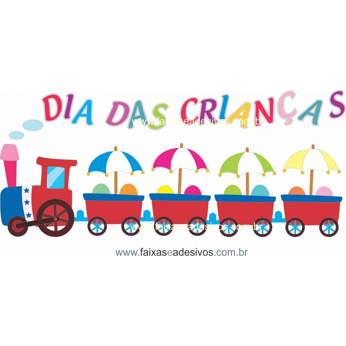 ADC694- Adesivo Dia das crianças Trenzinho 2  - Fac Signs