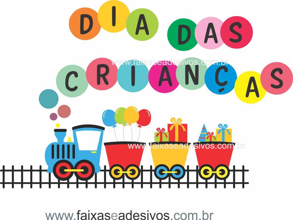 ADC693- Adesivo Dia das crianças Trenzinho 3  - Fac Signs
