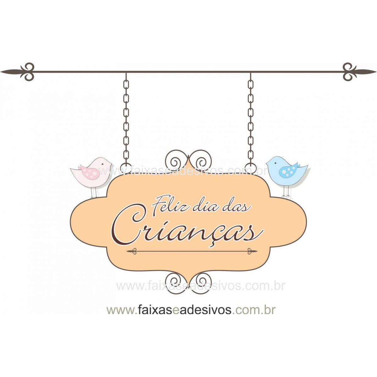ADC692- Adesivo Dia das crianças Passarinhos  - Fac Signs