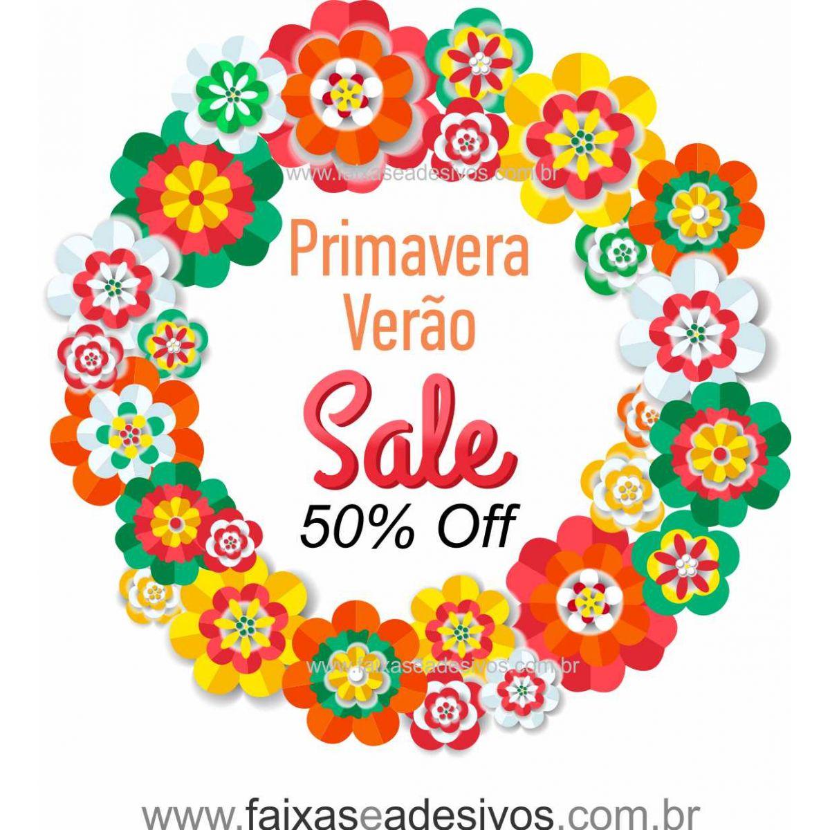 A4918 - Adesivo Primavera-Verão - Flores Dobradura  - Fac Signs