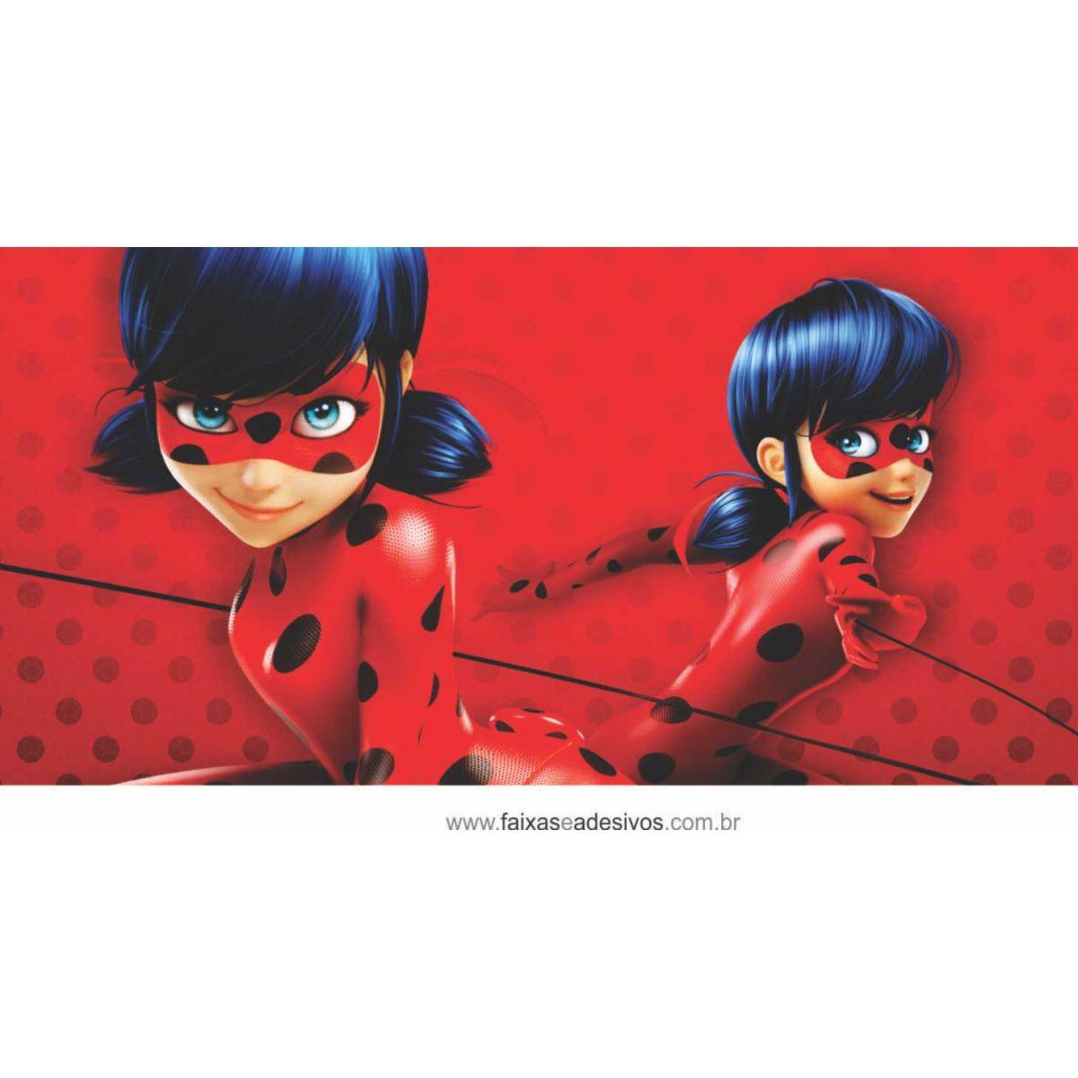 Painel de Aniversário 208 - Miraculous Ladybug 3  - FAC Signs Impressão Digital