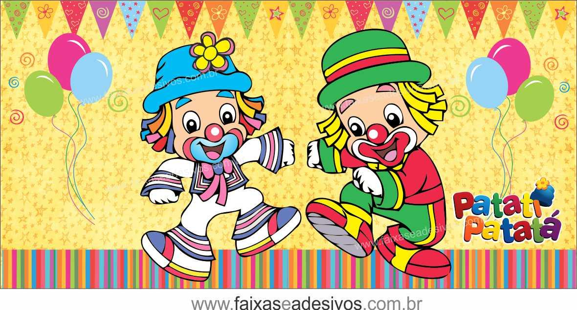 Painel de Aniversário 222 - Patati Patata 3  - Fac Signs
