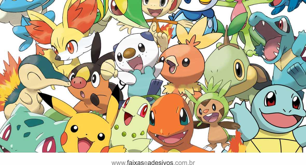 Painel de Aniversário 223 - Pokemon  - Fac Signs
