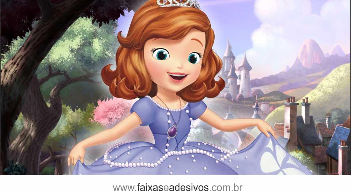 Painel de Aniversário 224 - Princesinha Sofia 1  - Fac Signs