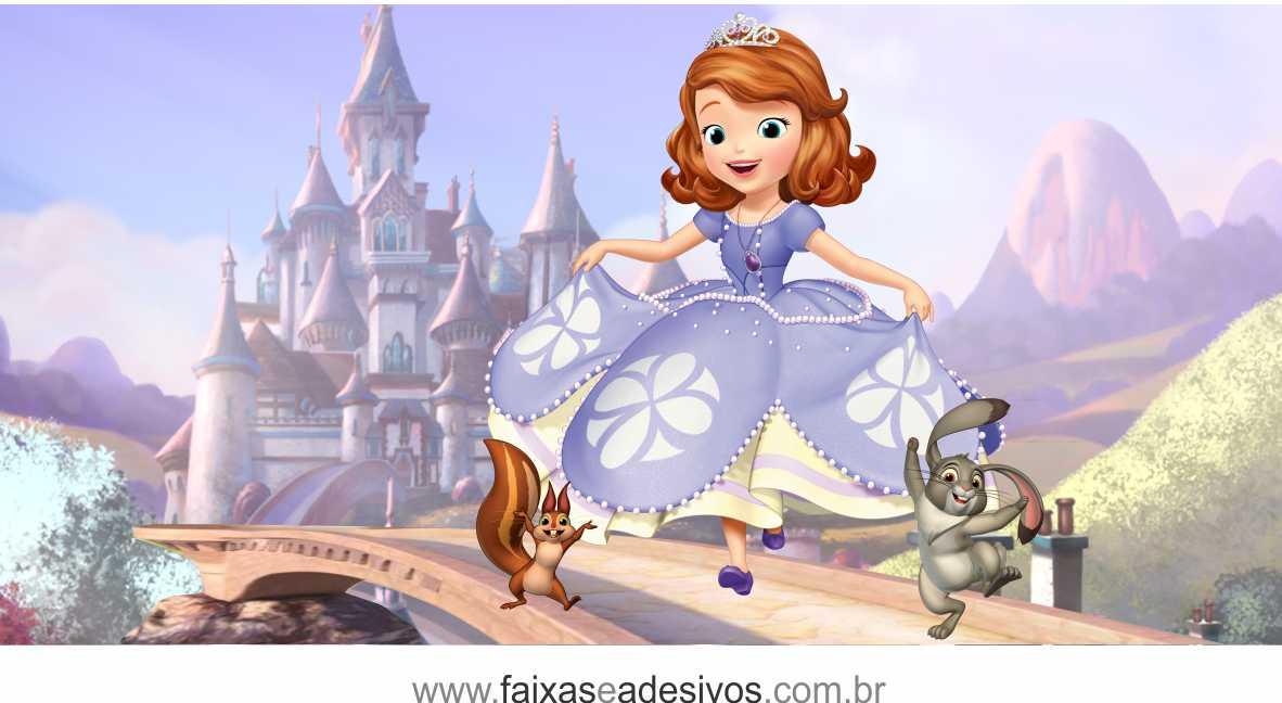 Painel de Aniversário 225 - Princesinha Sofia 2  - Fac Signs
