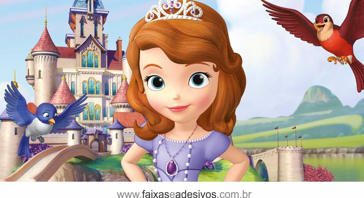 Painel de Aniversário 226 - Princesinha Sofia 3  - Fac Signs