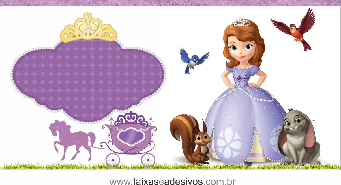 Painel de Aniversário 228 - Princesinha Sofia 5  - Fac Signs