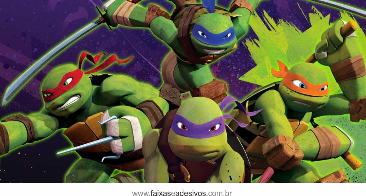 Painel de Aniversário 229 - Tartaruga Ninja 1  - Fac Signs