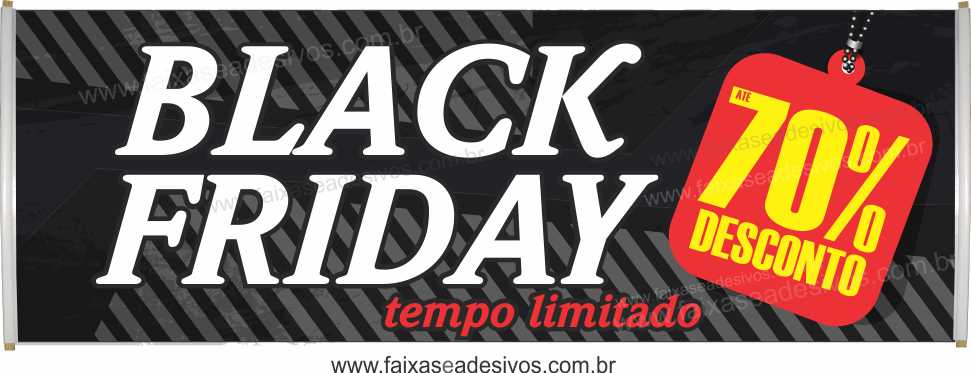 113- Black Friday - Faixa  - Fac Signs