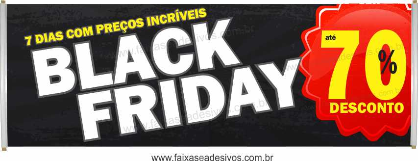 114- Black Friday - Faixa  - Fac Signs
