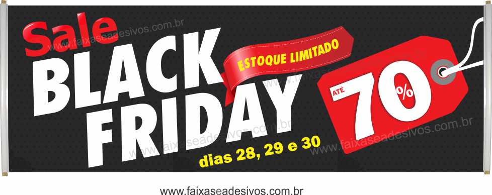 116- Black Friday - Faixa  - Fac Signs